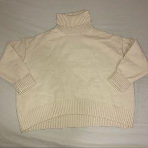 H&M Cream Turtleneck Sweater